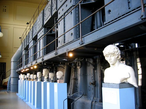 Busts at the Centrale Montemartini.