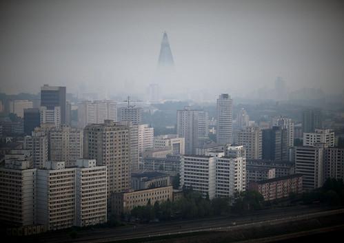 Foggy times in Pyongyang North korea