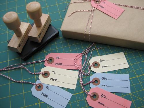 Stempel für Geschenkanhänger