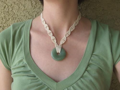 Crochet & Stone Necklace