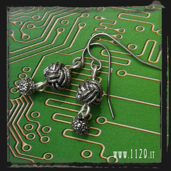 LENODO orecchini nodo knot earrings 1129