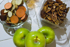 Apples and baby sweet potatoes
