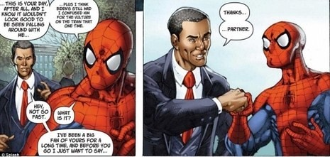 obama y spider-man en los cómics por ti.
