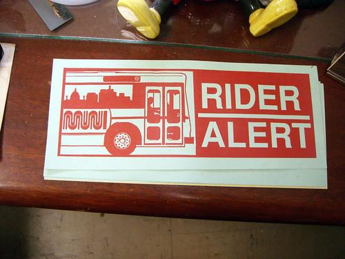 Rider Alert