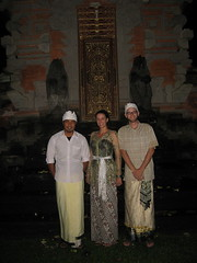 19 - Carrie and I dressed up for a religious celebration with Inyoman, our new couchsurfing friend
