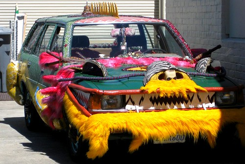 Art Car With A Mohawk by dyannaanfang