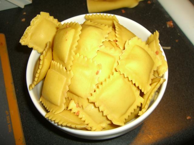 Separated ravioli