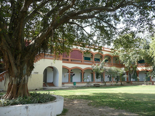 Gujarat Vidyapith, a university that teaches the Gandhian Way and was founded by Gandhi himself