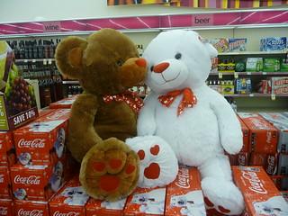 Cute Stuffed Animals inside a CVS Pharmacy