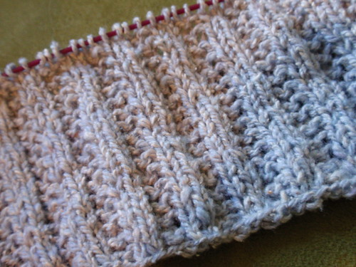 garter rib in silky wool