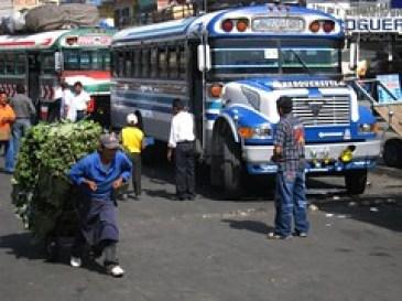 Xela's Busy Chicken Bus Terminal