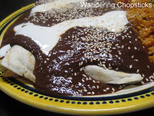 Chicken Enchiladas with Nutella Mole Poblano 2