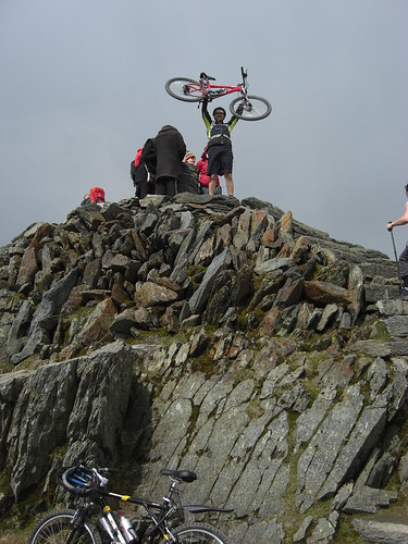 Alan takes his bike to the very top.