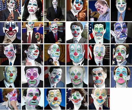prominent republicans with clown makeup
