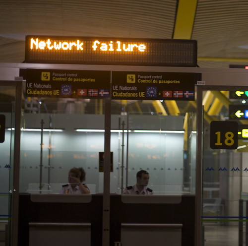 network failure in madrid airport by citylovesyou_ffm, on Flickr