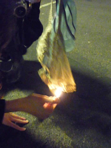 Burning of the knickers - a Belgian tradition!
