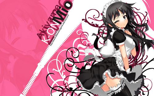 Konachan.com - 49281 akiyama_mio k-on! maid thighhighs