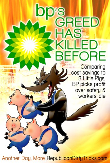 3 Little Pigs - BPs Greed Has Killed Before Image