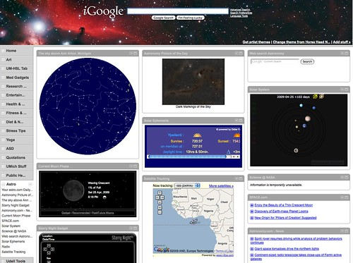 iGoogle Tab: Astro