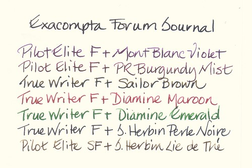 Exacompta Forum Journal Ink Test