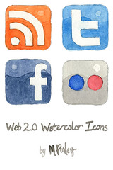 Social Media Watercolours - courtesy of mfinleydesigns