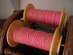 The Yarn Yard - Rhododendron - WIP