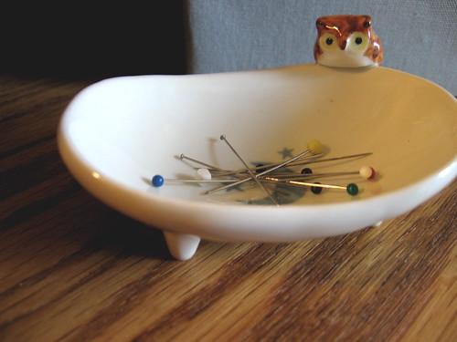 owl pin dish