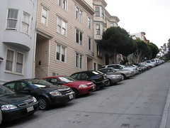 Parked cars in San Francisco California