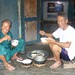 Cham Island residents having lunch
