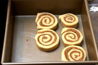 cinnamon buns, ready to double