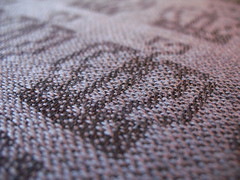 weaving damask - closeup on pattern