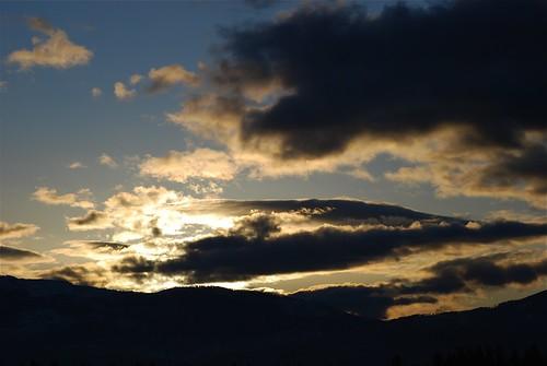At sunrise - east