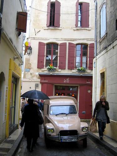 Rain in Arles.