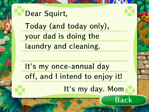 Why is Mom writing to ME on Mothers Day?