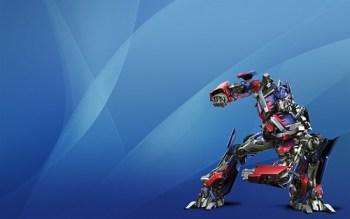 Optimus Prime on Aqua