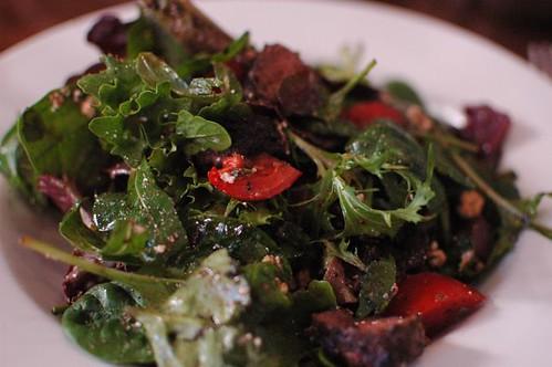 Marinated lamb salad