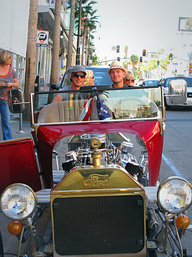 Chris and I On The Hollywood Hot Rod Tour - Los Angeles, California