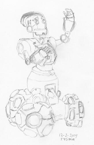 Sketch of a robot pose