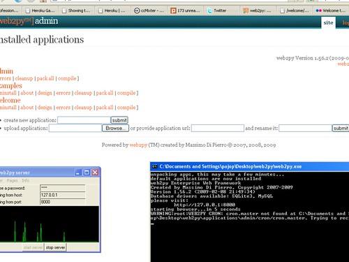 Web2Py Admin Panel