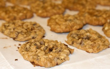 Hannah and David's Delicious Chocolate Chip Oatmeal Cookies