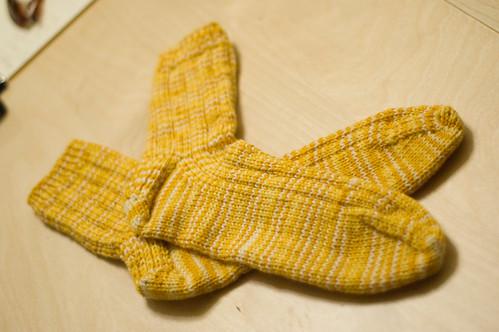 01.18.2009: Rob's socks! (by bookgrl)