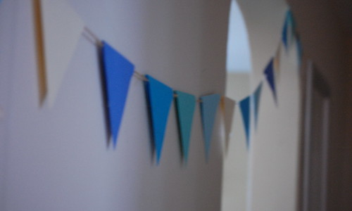 blurry bunting.