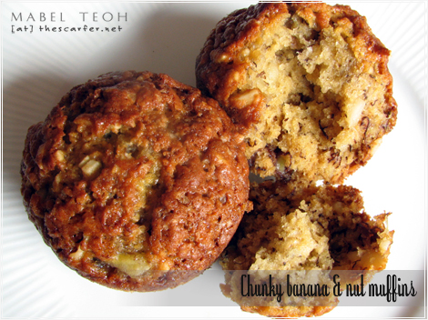 Chunky banana & nut muffin