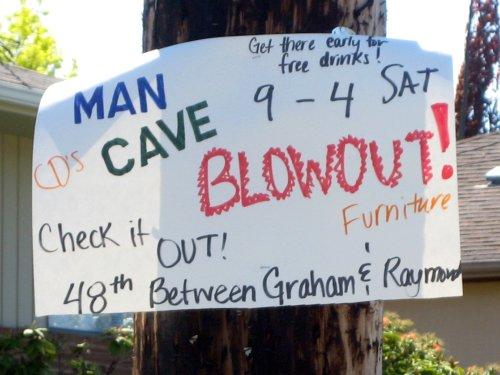 Man Cave Blowout