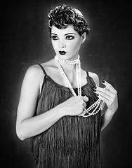 Flapper in 1920s..