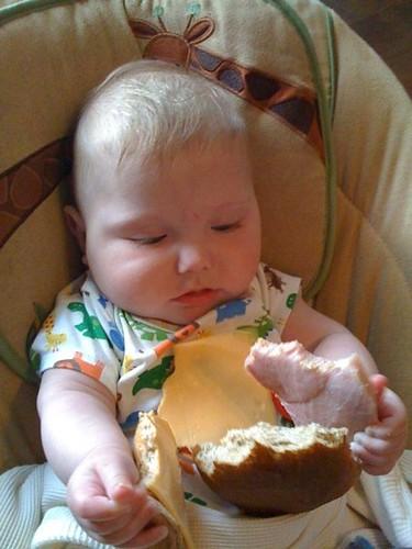 Henry Inspecting Ham Sandwich