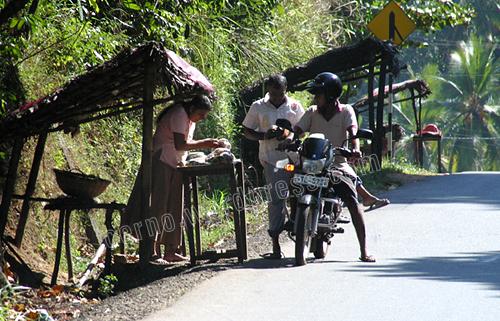 Roadside drive through eatery Sri Lanka