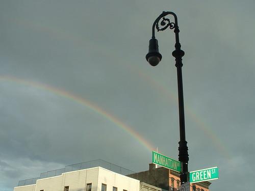 Rainbow at Cafecito Bogota: Manhattan Ave + Green St