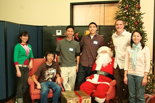 Tammy, Brian, Abe, Eddy, Yang... er... Santa Claus, Ryan, Michelle