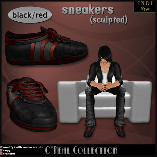 O'Neal sneakers black/red
